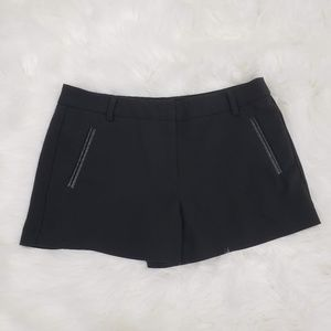 Forever 21 Solid Flat Front Basic Shorts Black